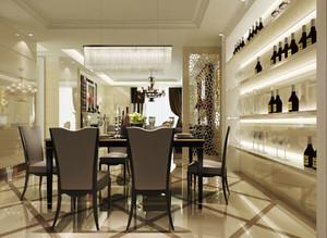 现代风格两居室餐厅酒柜设计效果图鉴赏