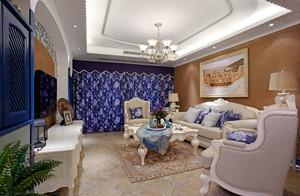 地中海风格三室两厅室内装修效果图鉴赏