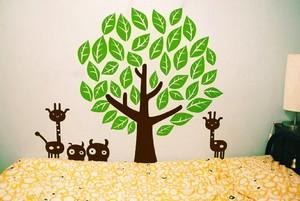 现代简约风格三居室儿童房墙贴设计效果图