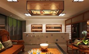中西混搭风格三居室客厅吧台设计效果图鉴赏