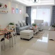 100平米欧式风格客厅窗帘设计效果图赏析