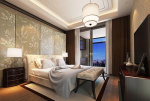 29平米现代简约风格卧室背景墙设计效果图赏析