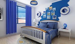 26平米地中海风格卧室照片墙设计效果图赏析