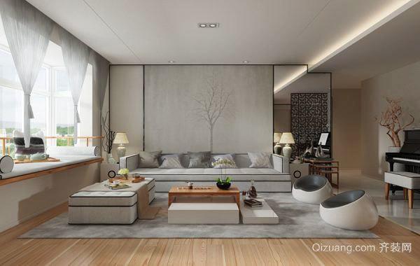 現代簡約中式風格大戶型室內裝修效果圖鑒賞