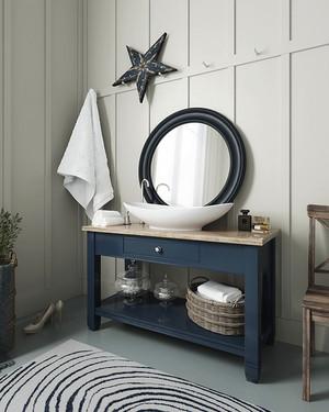 北欧风格一居室卫生间洗手盆设计效果图