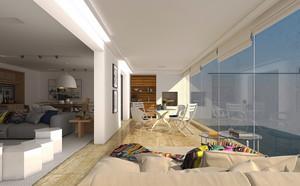 现代简约风格别墅阳台装修设计效果图赏析