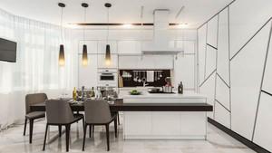 后现代风格小户型开放式厨房装修设计效果图