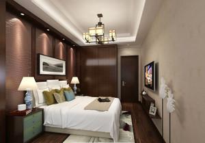 26平米中式风格卧室衣柜设计效果图赏析