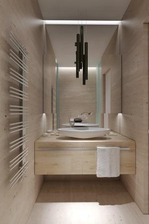 50平米小户型现代极简主义风格单身公寓装修效果图