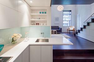 60平米现代简约风格小复式楼室内装修效果图