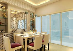 现代简约风格小户型餐厅背景墙装修效果图