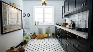 后现代风格小户型开放式厨房装修效果图