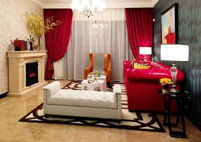80平米时尚混搭风格两室一厅装修效果图