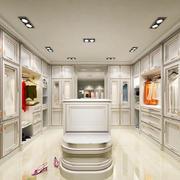 欧式风格别墅整体衣帽间设计装修效果图