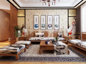 精致中式风格一居室小户型装修效果图