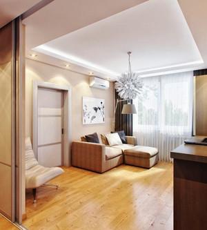 40平米简欧风格单身公寓室内装修效果图赏析