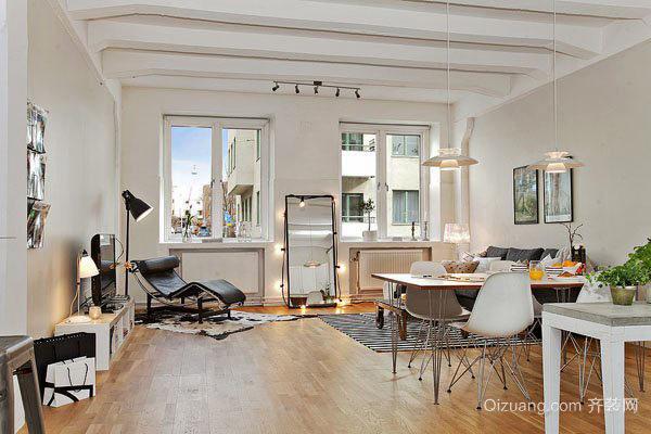 北欧风格三居室客厅装修效果图赏析