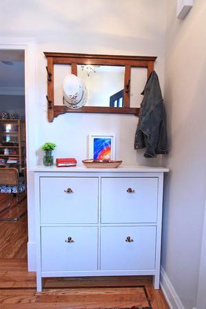 北欧风格小户型室内玄关鞋柜设计效果图