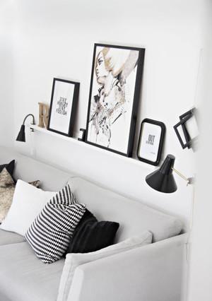 北欧风格小户型室内照片墙设计效果图鉴赏