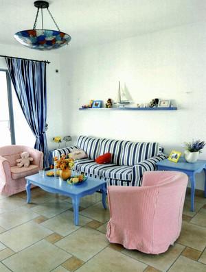 地中海风格复式楼室内装修效果图赏析