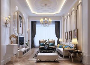 奢华简欧风格别墅客厅装修效果图赏析