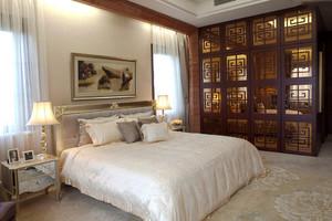 28平米现代中式风格卧室装修效果图赏析