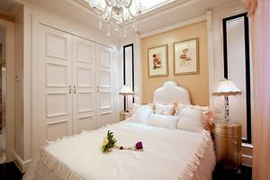 简欧风格三居室卧室整体衣柜设计效果图