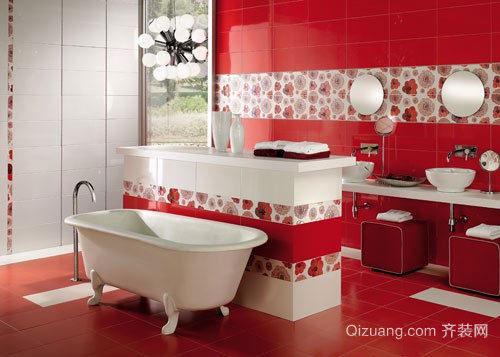 现代简约风格三居室精致卫生间装修效果图