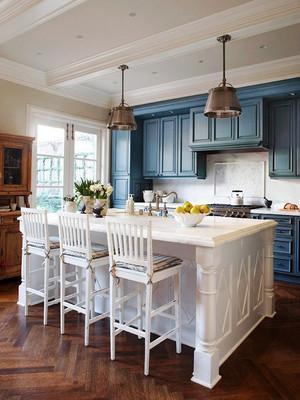 欧式风格大户型开放式厨房吊灯装修效果图鉴赏