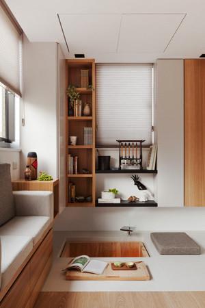 日式简约风格小户型客厅小书柜设计效果图赏析