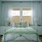 25平米美式田园风格卧室窗帘设计效果图鉴赏
