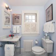 10平米现代美式风格卫生间装修效果图鉴赏