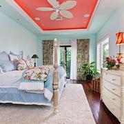 29平米现代美式风格卧室装修效果图赏析