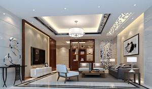 110平米现代风格客厅博古架设计效果图赏析