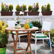152平米现代风格阳台花园装修设计效果图赏析