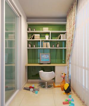 现代简约风格大户型阳台改书房装修设计效果图