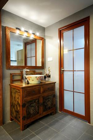 120平米中式风格卫生间浴室柜设计效果图鉴赏