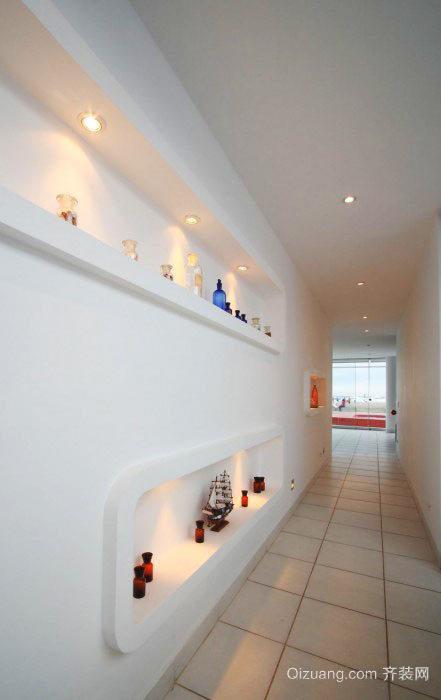 现代简约风格复式楼室内过道装修效果图