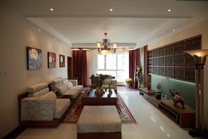 东南亚风格三室两厅室内装修效果图赏析