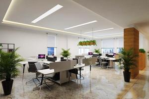 46平米乡村风格办公室吊顶装修效果图赏析