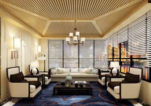 30平米简欧风格公司会客厅设计效果图赏析