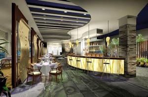 88平米后现代风格酒吧吧台设计效果图赏析