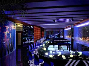 现代风格音乐主题酒吧吊顶设计效果图赏析