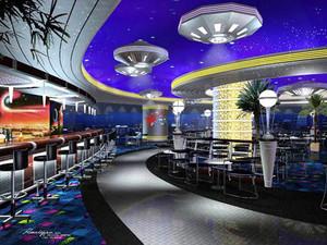 80平米后现代风格酒吧装修效果图赏析