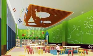 167平米现代简约风格幼儿园教室装修效果图