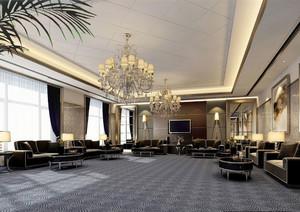 132平米欧式风格会客厅装修效果图赏析