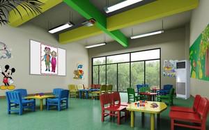 132平米现代简约风格幼儿园教室装修效果图