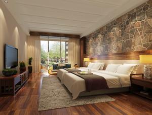 46平米现代简约风格宾馆装修效果图赏析
