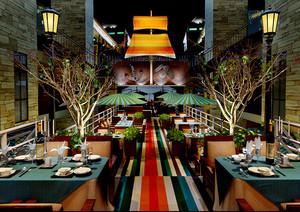 190平米东南亚风格餐厅装修效果图鉴赏