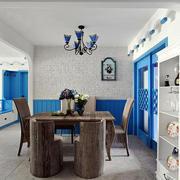 蓝白经典地中海风格餐厅吊顶设计效果图赏析